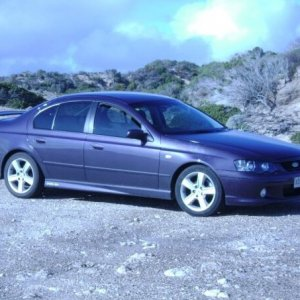 The wife's 2003 BA XR6 turbo 5sp, full leather interior, great car, good tourer.